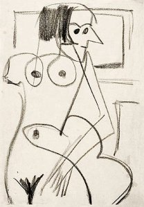 By Kirchner - Sketch of a naked woman
