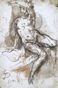 By Zuccaro, Taddeo - Seated girl