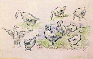 By Sisley, Alfred - Geese