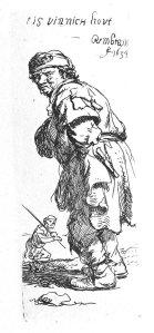 By Rembrandt - Beggar