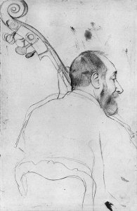 By Degas - Portrait of a bassist