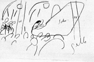 By Kandinsky, Wassily - Sketch of a pianist in a concert