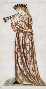 By Morris, William - Woman playing a single-reed instrument