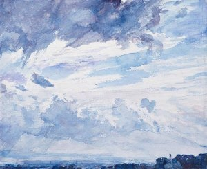 By Constable - An sketch of the sky