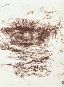 By Da Vinci - The storm over the valley