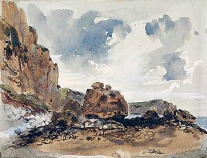 By Delacroix - The sky in a coastal landscape