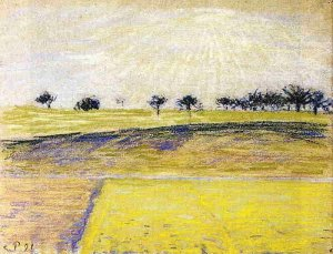 By Pissarro - A dawn on the countryside