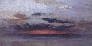 By Ruskin, John - Clouds of tempest over the sea