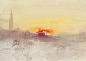 By Turner - The reddish sunset