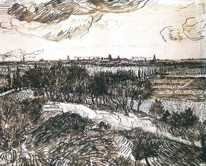 By Van Gogh - A view of the countryside in the Provence. France