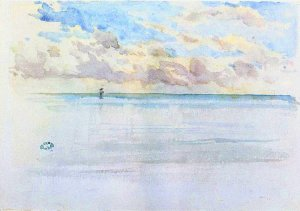By Whistler, J. A. McNeill - A view of the English Channel in Normandy. France