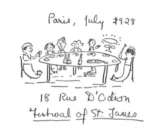 By F. Scott Fitzgerald - Souvenir of a party with James Joyce and Sylvia Beach