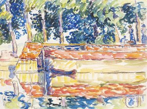 By Signac, Paul - View over the river Seine