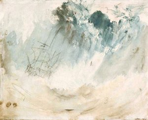 By Turner, J.M.W. - Under the storm