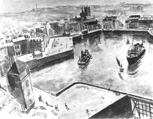 By Vodkin, Petrov - The port in Dieppe