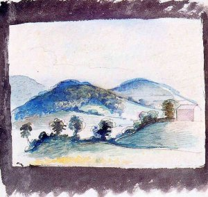 By Balthus - A sketch of hills near Burgundy