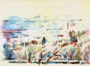 By Cézanne - Landscape in Provence