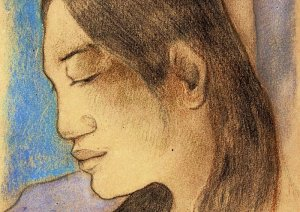 By Gauguin - Profile of a tahitian