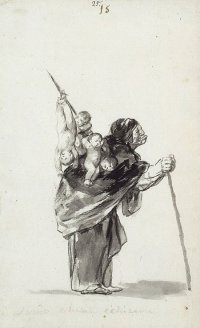 By Goya - A sorceress with children