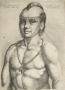 By Hollar, Wenseslaus - A young native american indian
