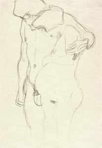 By Klimt - A man and a pregnant woman