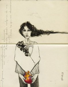 By Kuhn, Erika - The girl of the heart
