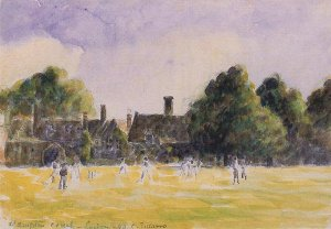 By Pissarro - A view of a field of the old London