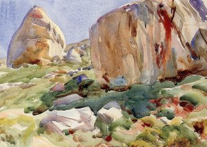 By Singer Sargent - Study of boulders