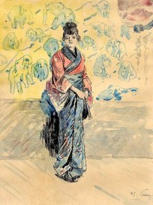 By Sommier, François C. also known as Henry Somm - Woman dressed in oriental clothes