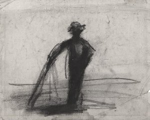 By Bourdelle, Emile A. - Sketch of a peasant
