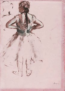 By Degas - A ballerina during a break