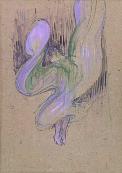 By Toulouse Lautrec, Henri - A dancer rais her dress in a cabaret of Paris